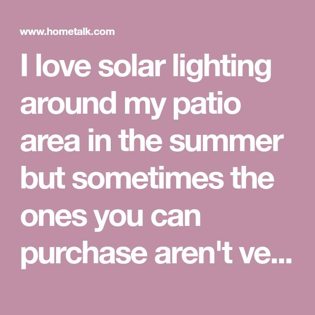 Diy Outdoor Lighting Dollar Stores