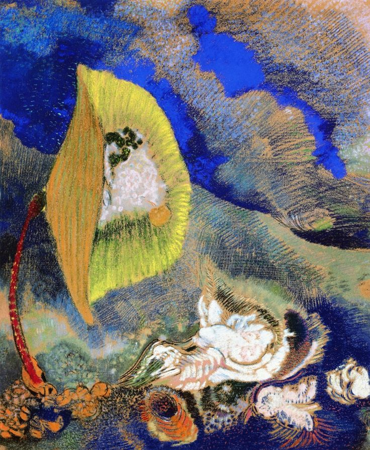 Underwater Vision .c.1904.by Odilon Redon