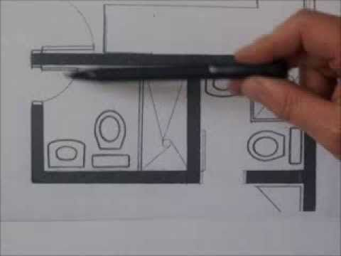C mo dise ar un ba o materiales de construcci n planos for Como disenar un bano pequeno