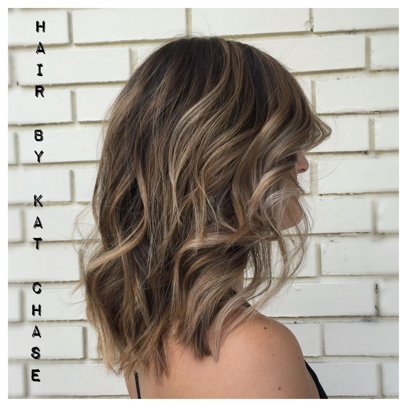 ash blonde balayage highlights on medium hair | hair portfolio