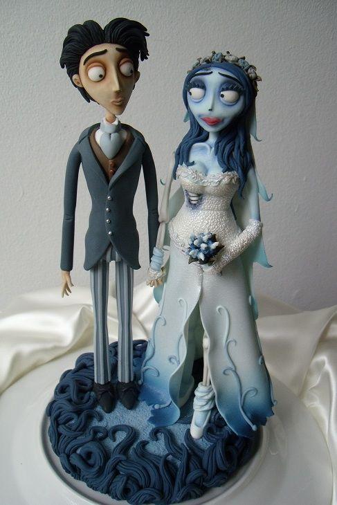 Corpse Bride Victor & Emily Topper | Sugar Art Pieces | Pinterest ...