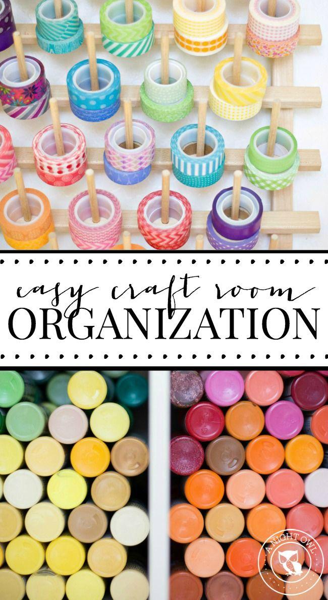Easy Craft Room Organization Ideas #craftroomideas