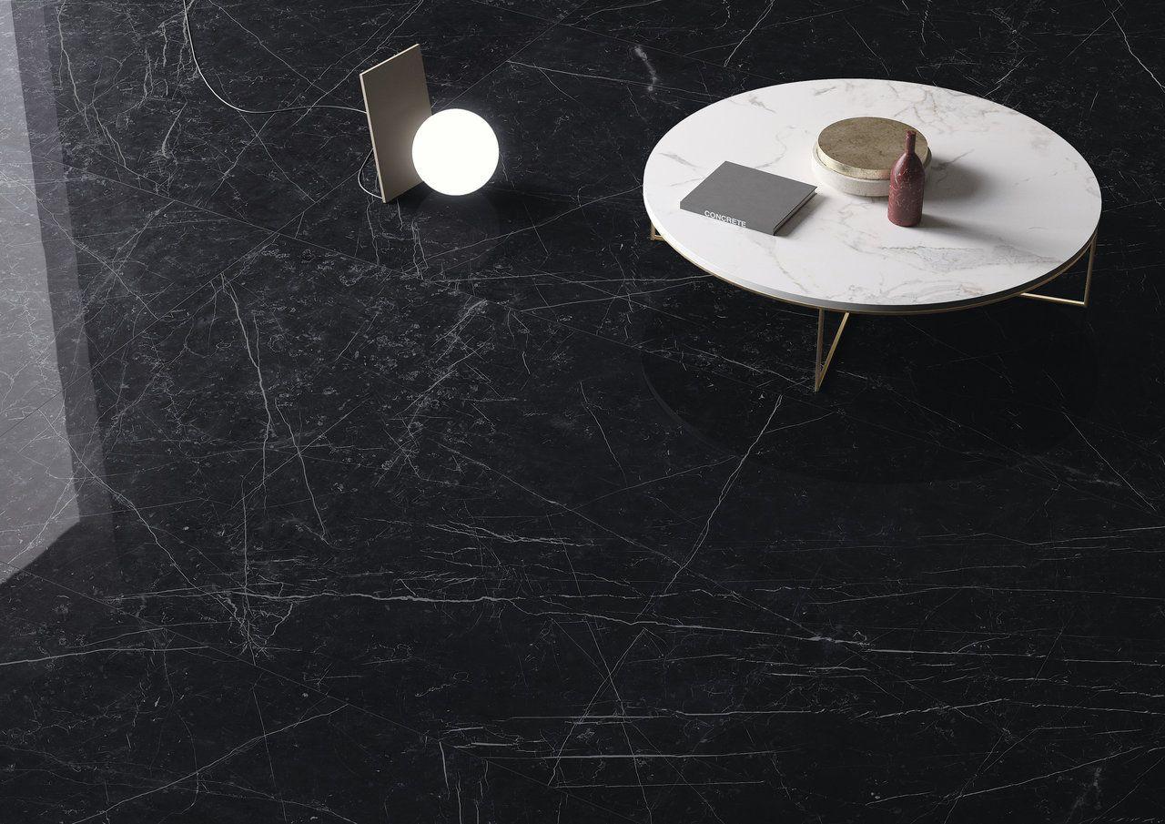 Dark Marquina Marmi Maximum Porcelain Tile Marble Effect Cersaie2017 Granitifiandre Irisceramicagroup Parete