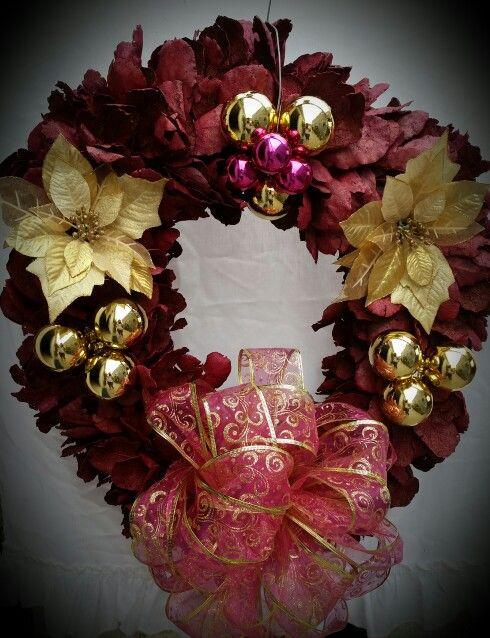 Corona de Hoja de encino | Navidad | Pinterest | Corona de hojas ...