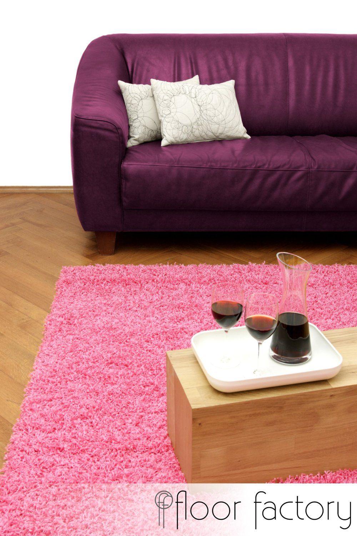 Discount Hochflorteppich Candy - Langflor Teppich rosa/pink ... | {Küchenleerblock günstig 38}