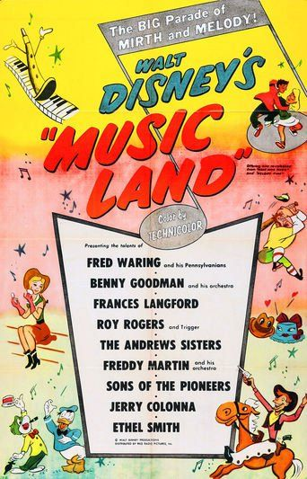 Music Land (1935) | http://www.getgrandmovies.top/movies/4250-music-land | Musical instruments are the stars of a romantic fable set in the Land of Symphony and the Isle of Jazz, two islands separated by the Sea of Discord. The violin princess and the saxophone prince fall in love, but must meet secretly in order to avoid the wrath of their parents, the Symphony queen and the Jazz king. The queen finds the boy saxophone on her island, attempting to woo her daughter. She has him locked in…