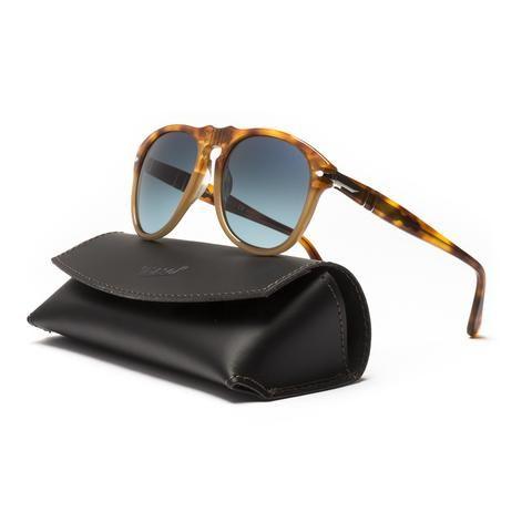 6346b0ec842 Persol 649 Sunglasses 1025 S3 Resina e Sale Brown   Blue Polarized Lens 52  mm
