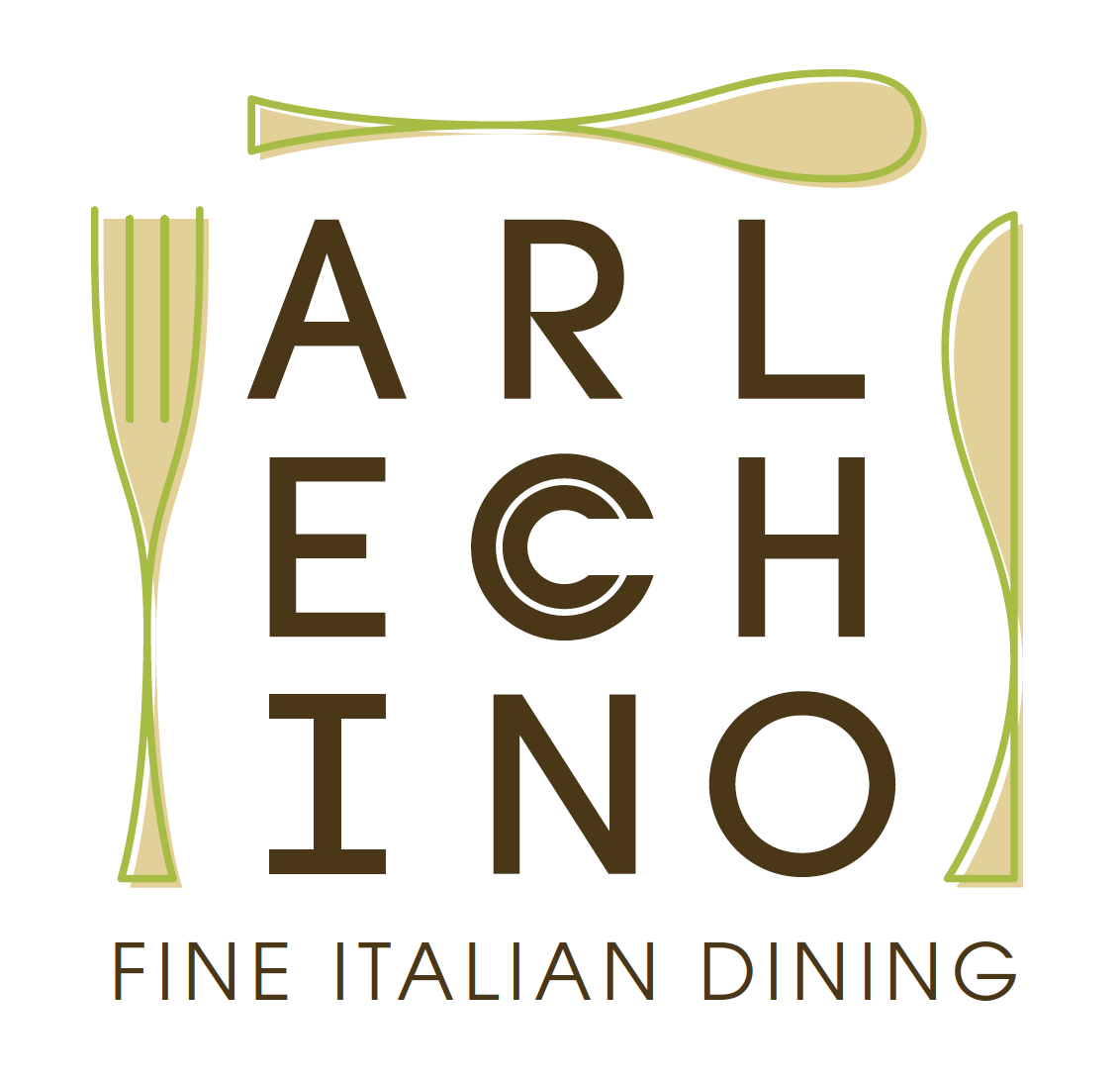Logo design for Arlecchino Italian Dining at Buccament Bay