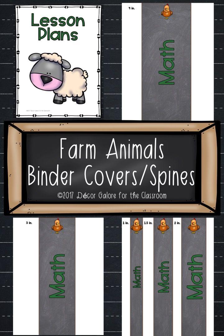 Binder Covers Spines Farm Animals Decor Binder Covers Farm Animals Decor Star Themed Classroom