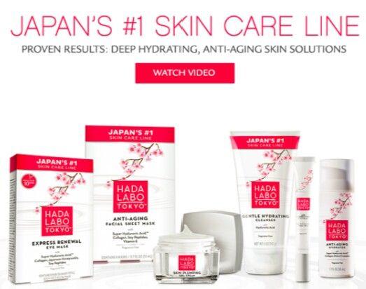 Hada Labo Tokyo Japan S 1 Skin Care Line Hada Labo Tokyo Anti Aging Skin Products Skin Solutions