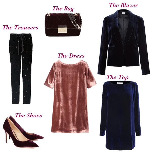 Capsule wardrobe essentials, autumn trend velvet