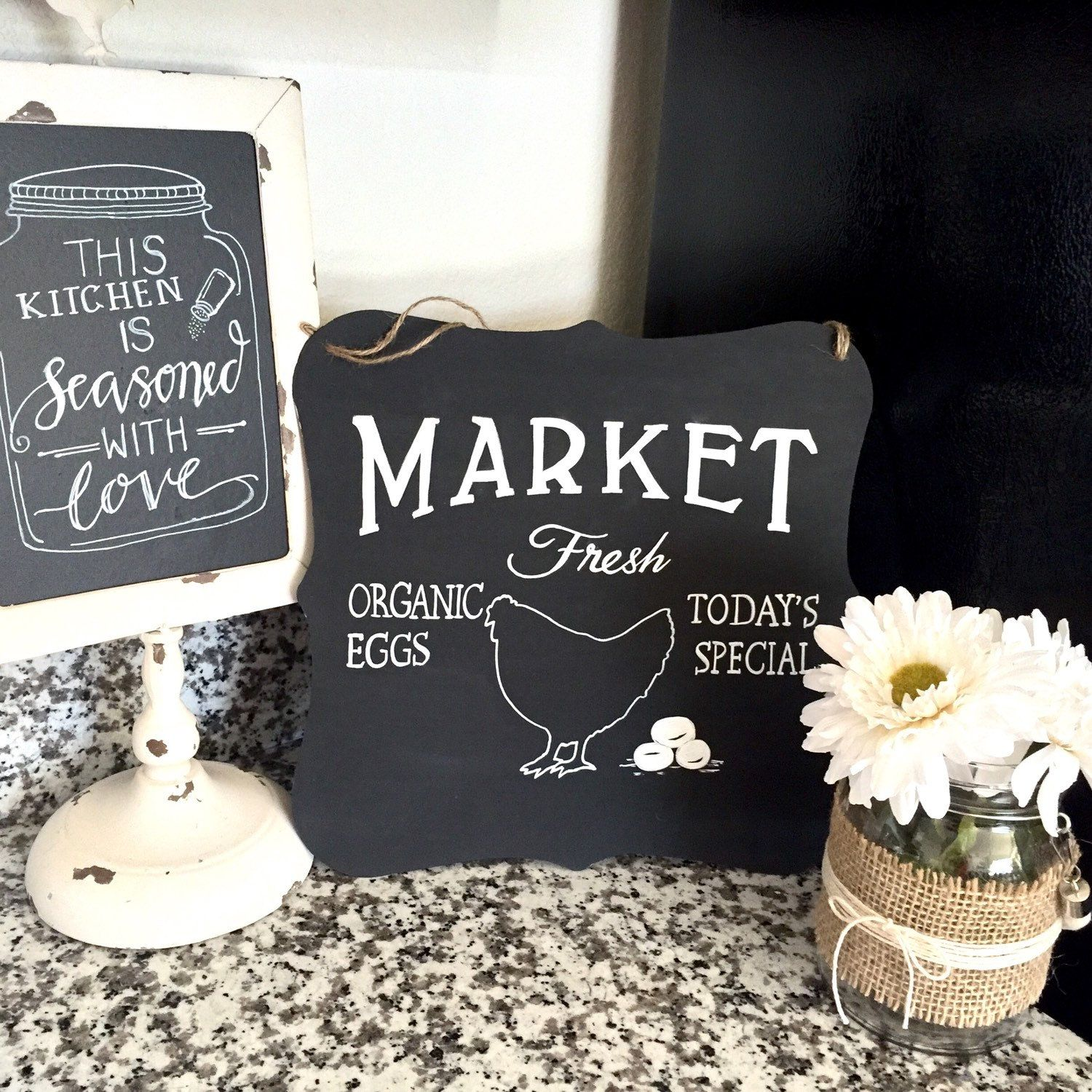 Metal Market Chalkboard Sign has been added to the store metal