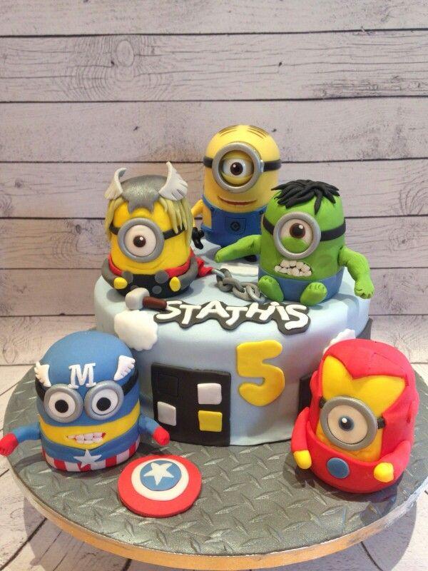 Minion superhero cake … | Pinteres…