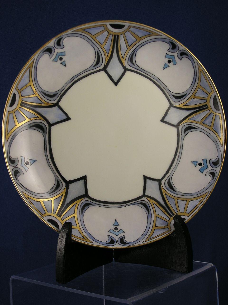 Mavaleix Limoges Art Deco Plate Signed Quot Endicott Quot C 1908