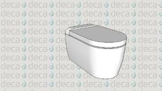 3D Model of Deca Bacia Sanitária Suspensa DK CódigoP.192
