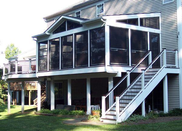 American Deck Inc Gallery Array Custom Porch Three Season Porch Screened Porch Designs