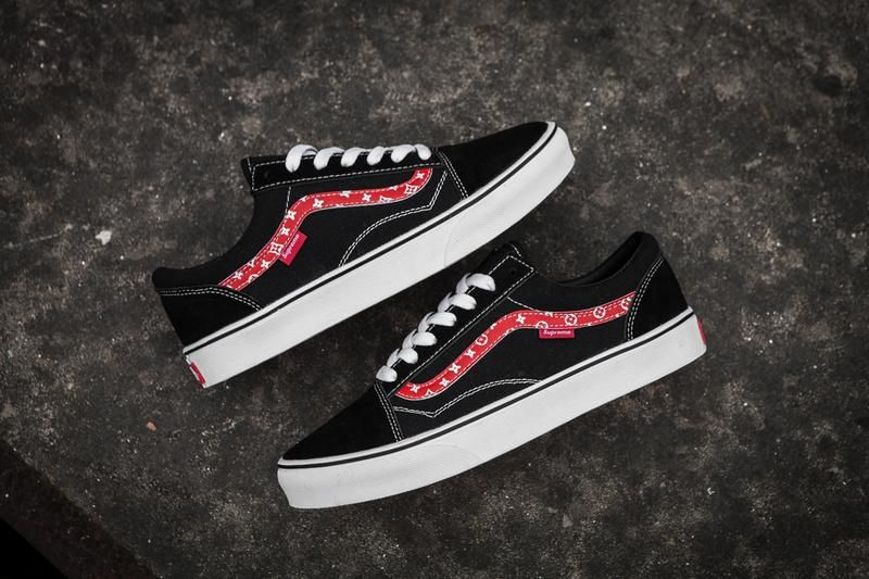 Vans X Champion X Supreme Old Skool Classic Black Red True