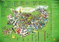 Legoland Billund In Denmark Park Map Danmark
