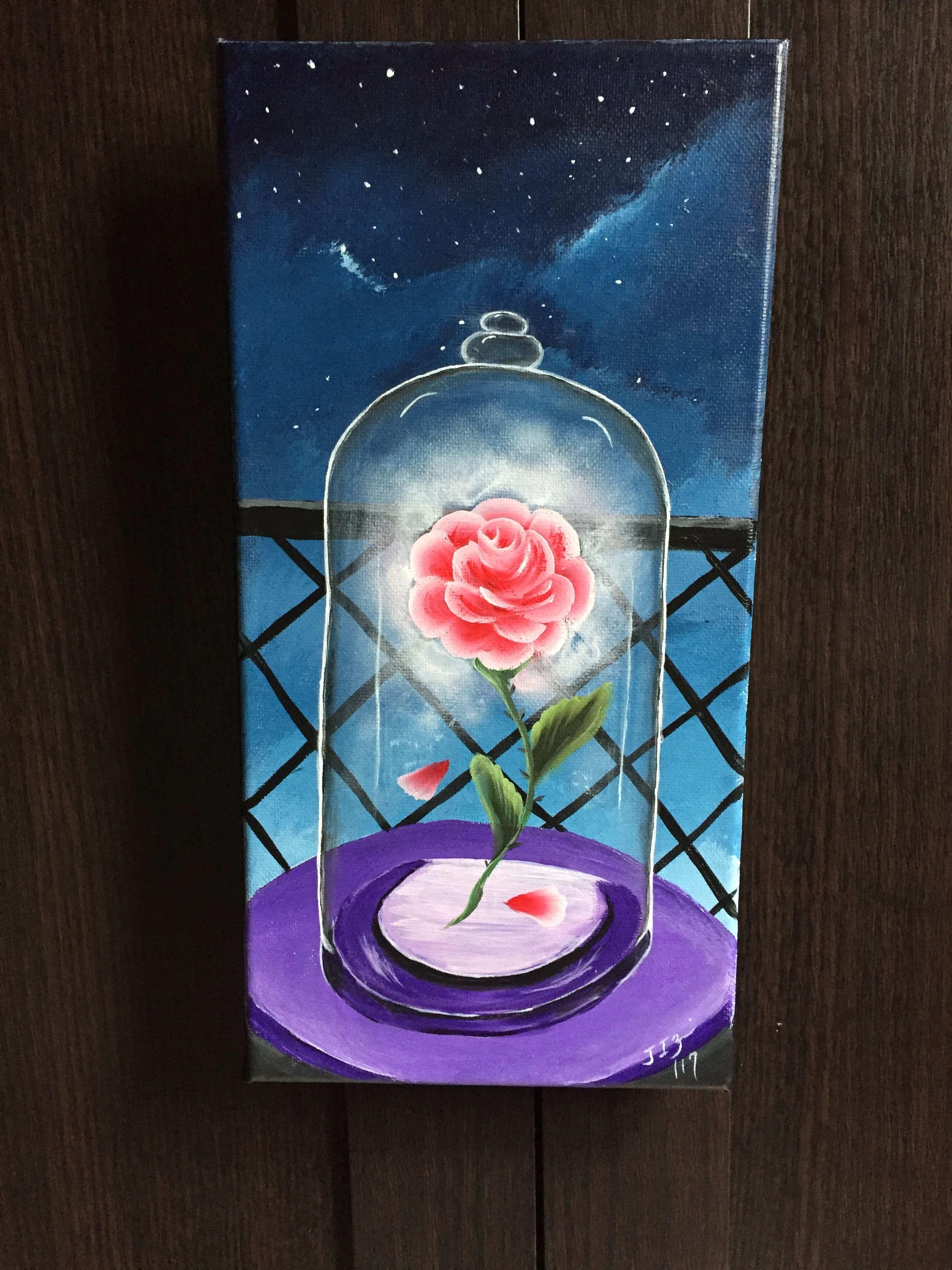 Beauty and the Beast Rose acrylic on canvas sold | Art ...