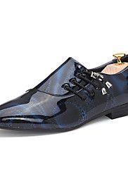 6b404093f8 Sapatos Masculinos Oxfords Preto   Azul   Marrom   Roxo   Branco Courino  Escritório   Trabalho