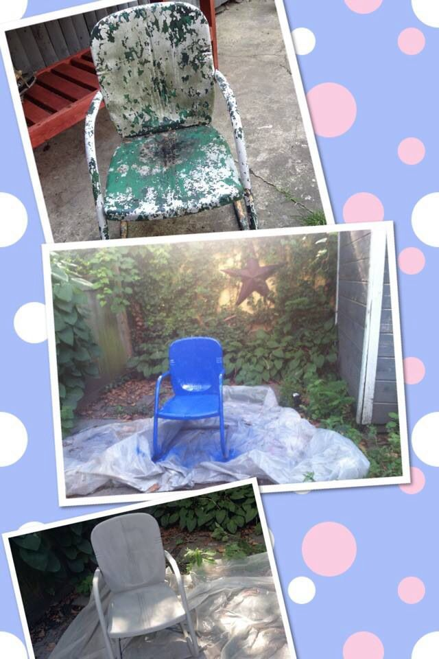 4 Chair Patio Set: Patio Chair Revamped!