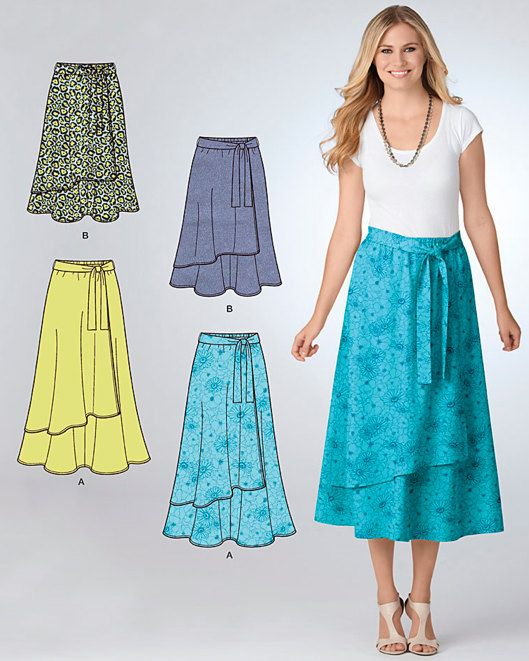 92a10473ee0 EASY-TO-SEW uncut sewing pattern includes instructions and paper pattern  pieces to make misses skirts in sizes 10-12-14-16-18 (25-32