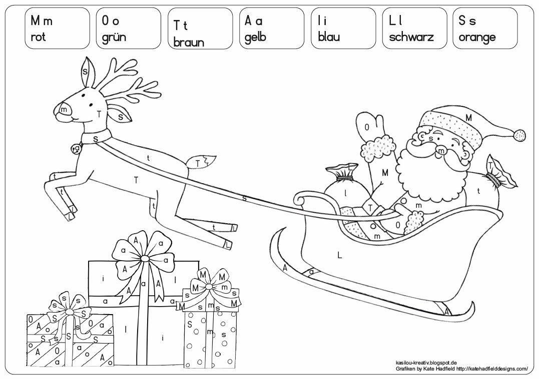 Kasilou Malen Nach Buchstaben Weihnachtlich Buchstaben