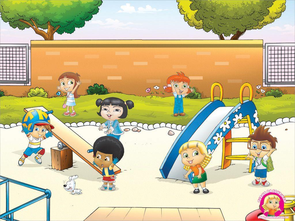 children in playground cartoon Google Search