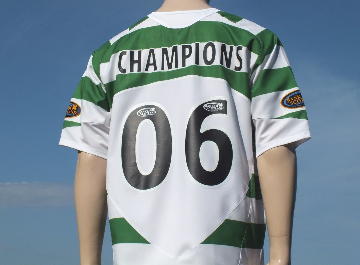 f8844713cea rare celtic fc home player shirt champions signed season 2005-2006 three in  a row