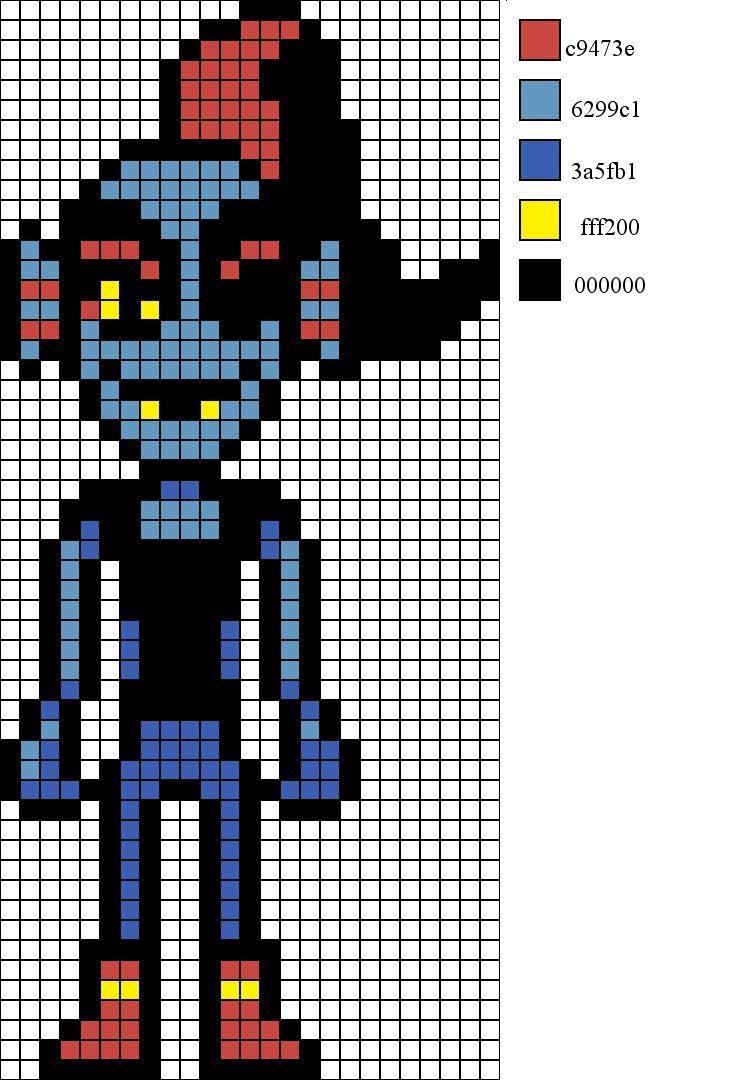 8 Bit Characters Graph Paper