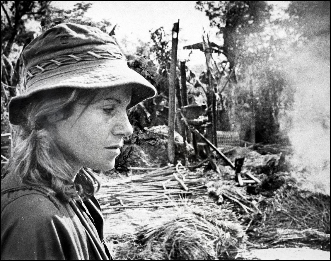 Reporter Denby Fawcett With Danang Patrol In Vietnam War