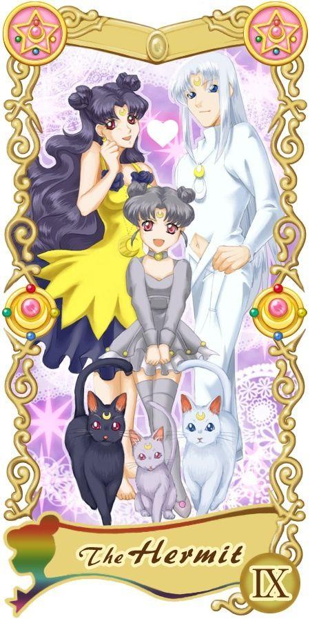 Sailor moon tarot card