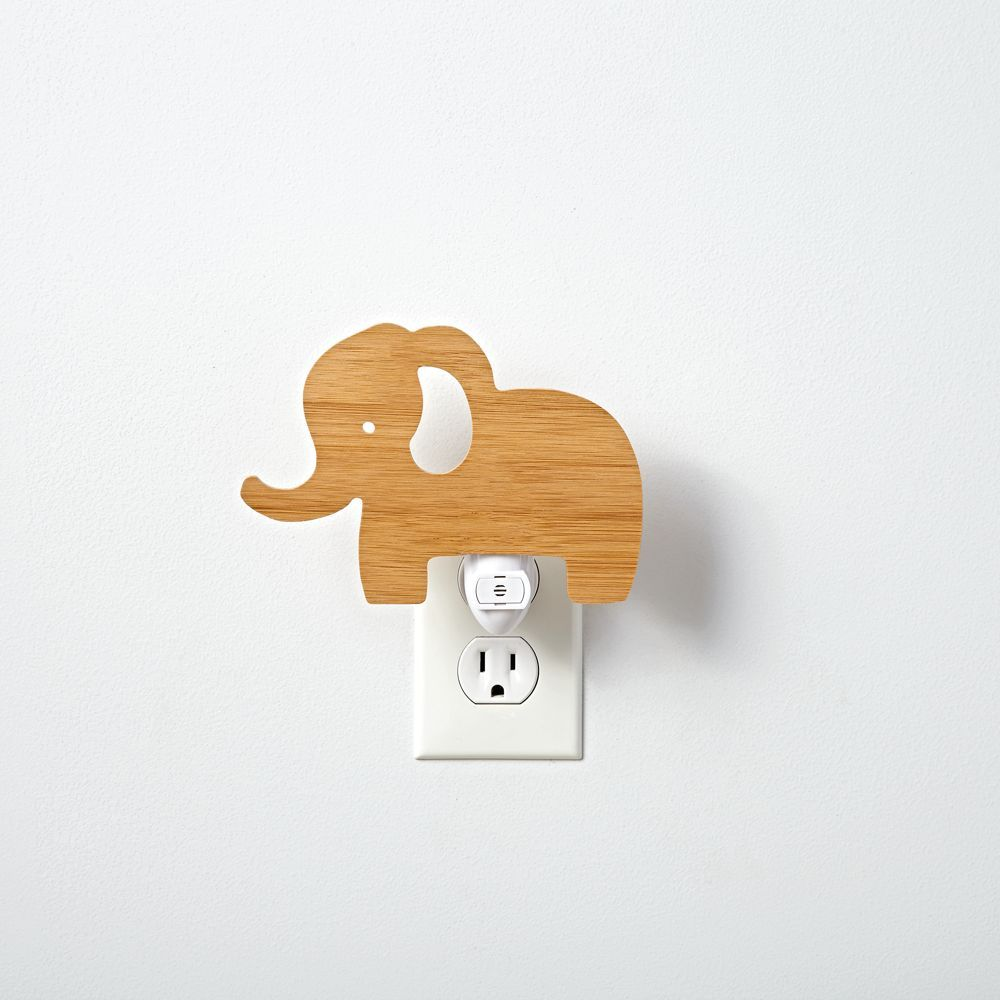 Wooden Elephant Night Light Products Nursery