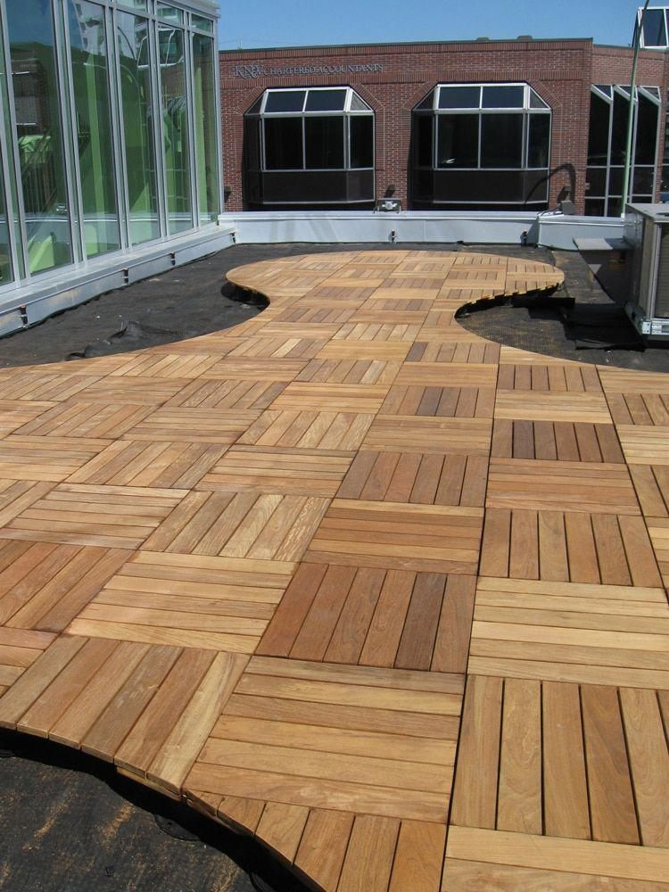 Patio Deck Tiles Recycled Rubber: Bison Wood Deck & Rooftop Tiles In 2019