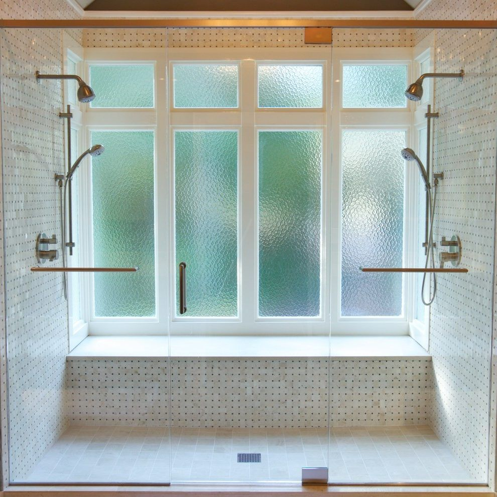 Obscure Glass Windows Bathroom Transitional With Glass Shower Door