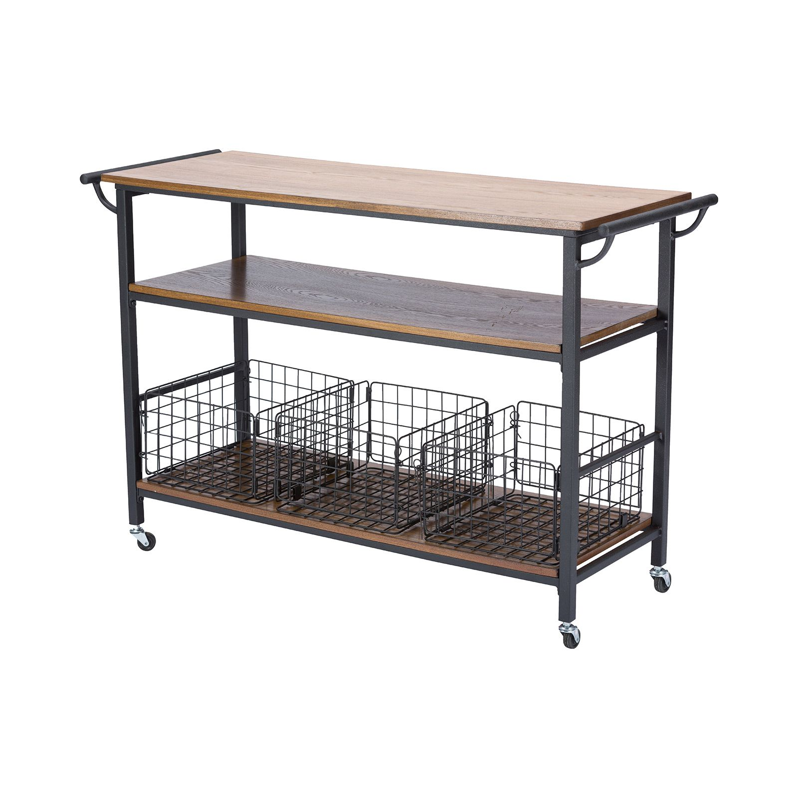 Clint Wood & Metal Kitchen Cart | dotandbo.com | Laundry Room ...