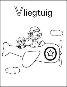 alfabet kleurplaat v vliegtuig alfabet kleurplaten