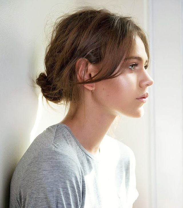 10 Cool And Easy Buns That Work For Short Hair Short Hair Ponytail Short Hair Bun Short Hair Updo