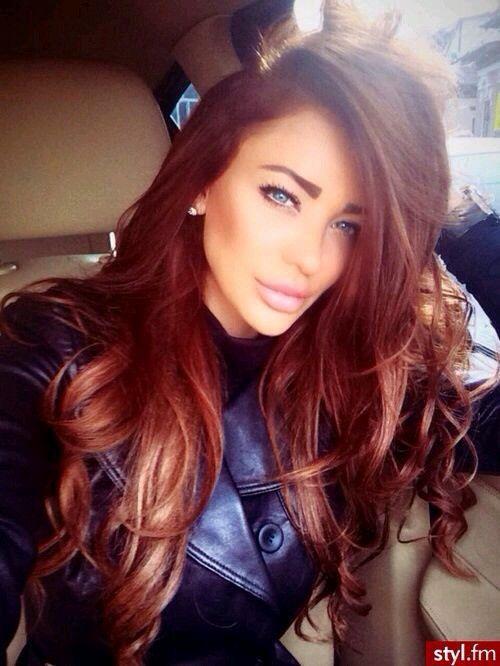 Color de cabello rojo chocolate