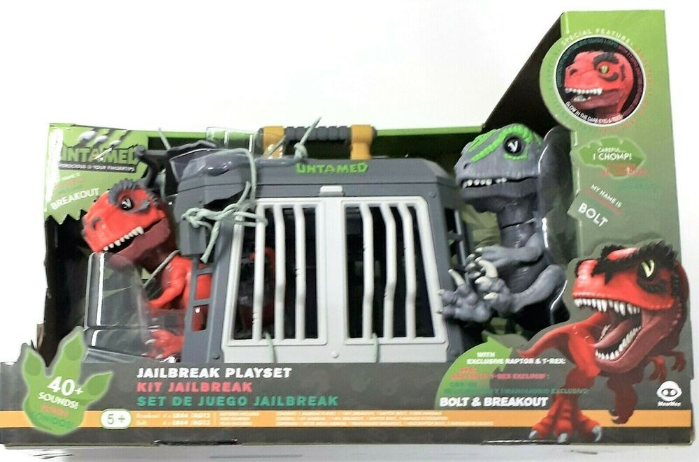 Fingerlings Untamed Dinosaur Cage Jailbreak Set Exclusive Raptor T Rex New Wowwee Dinosaur Raptor Dinosaur Rex They first appeared during the triassic period, between 243 and 233.23 million years ago. fingerlings untamed dinosaur cage