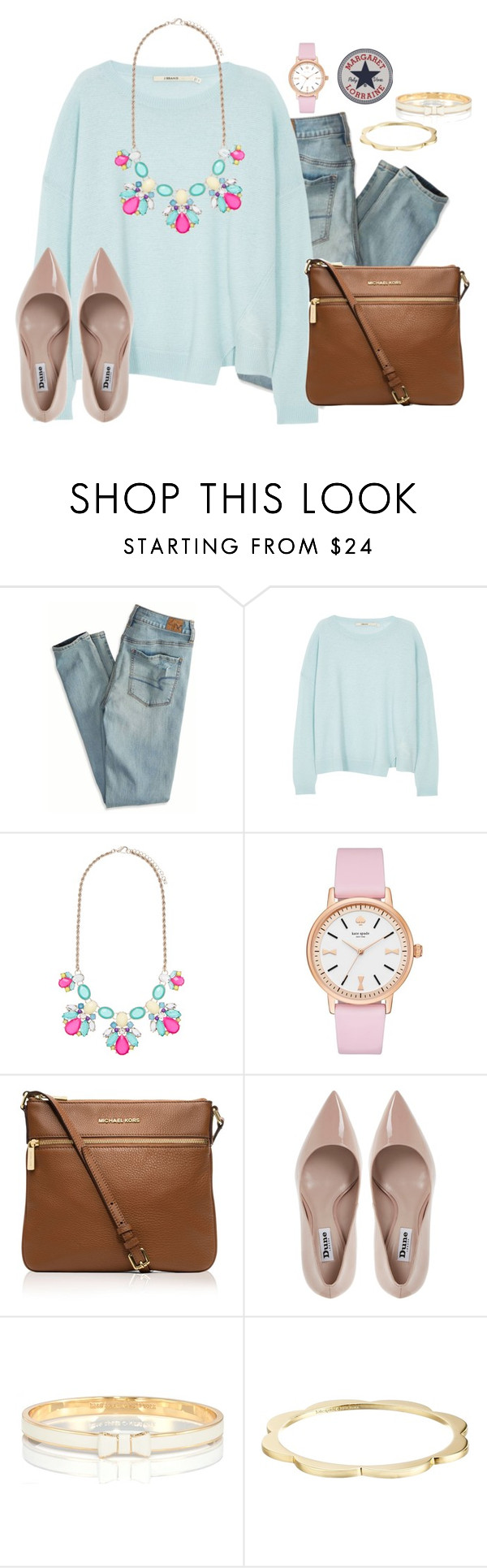 """The SAT was canceled  but rescheduled "" by margaretlorraine02 ❤ liked on Polyvore featuring American Eagle Outfitters, J Brand, Forever New, Kate Spade, MICHAEL Michael Kors, Dune, women's clothing, women's fashion, women and female"