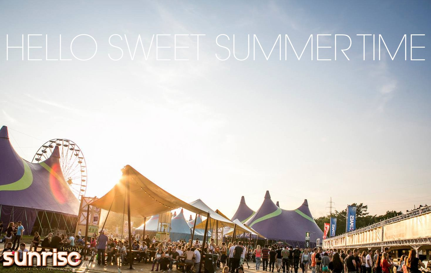 There's nothing like the intense touch of Summer-time! #SunriseFestival  Info & tickets: www.sunrisefestival.be
