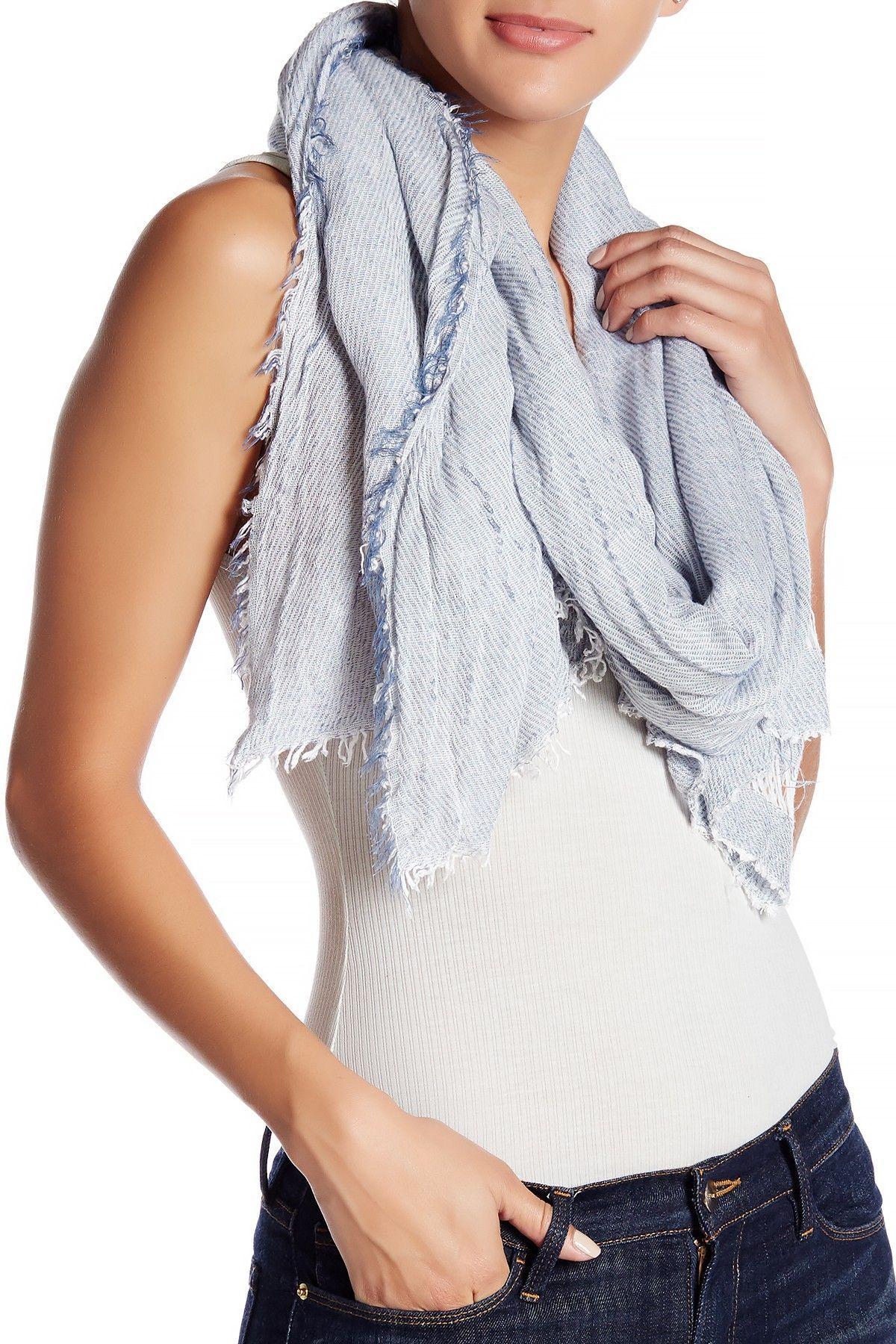 14th & Union Frayed Knit Oblong Scarf Long scarf