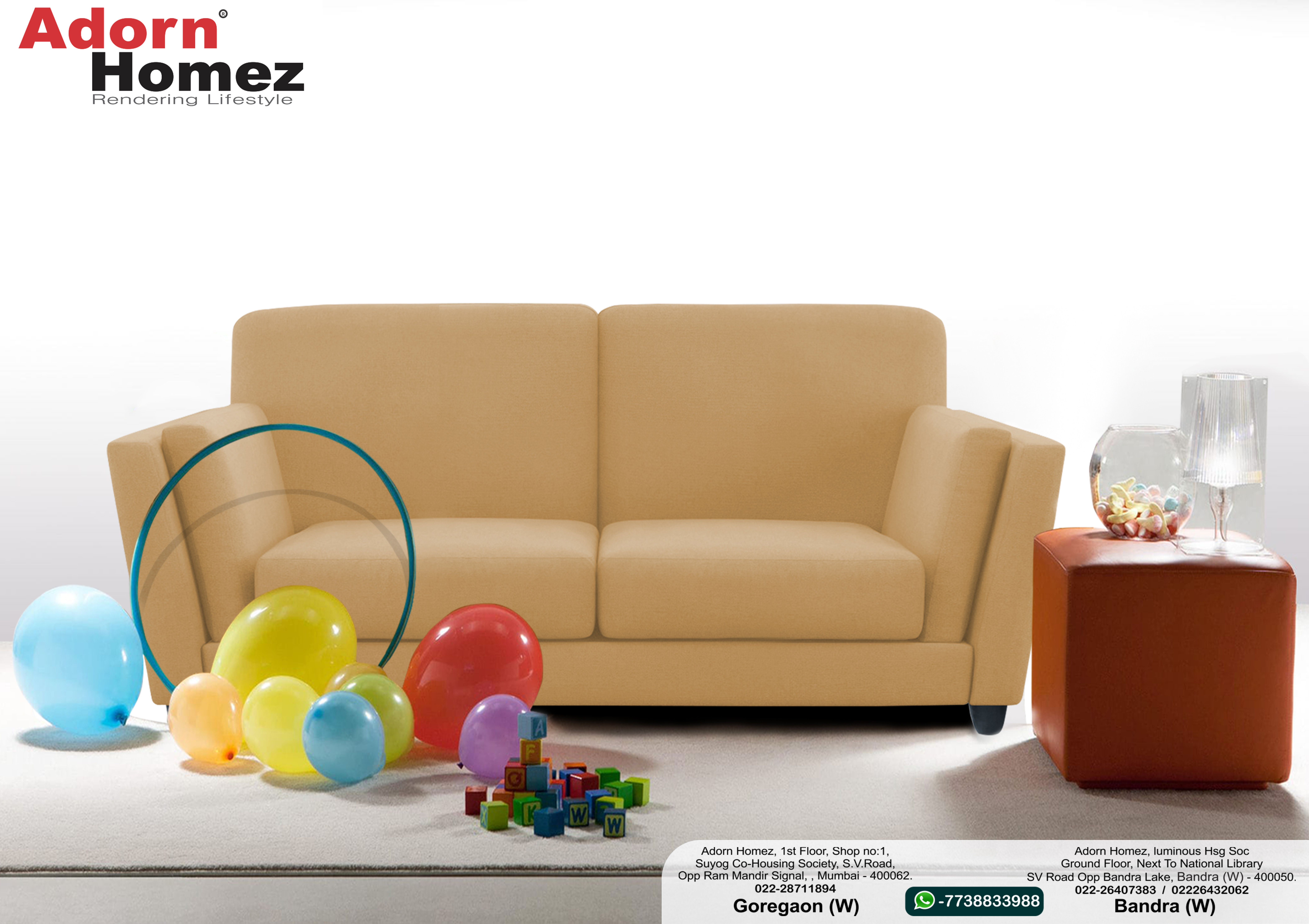 Sofa Set Offers In Mumbai Adorn Homez Cabana Fabric 2 Seater Sofa Set Beige Sofa