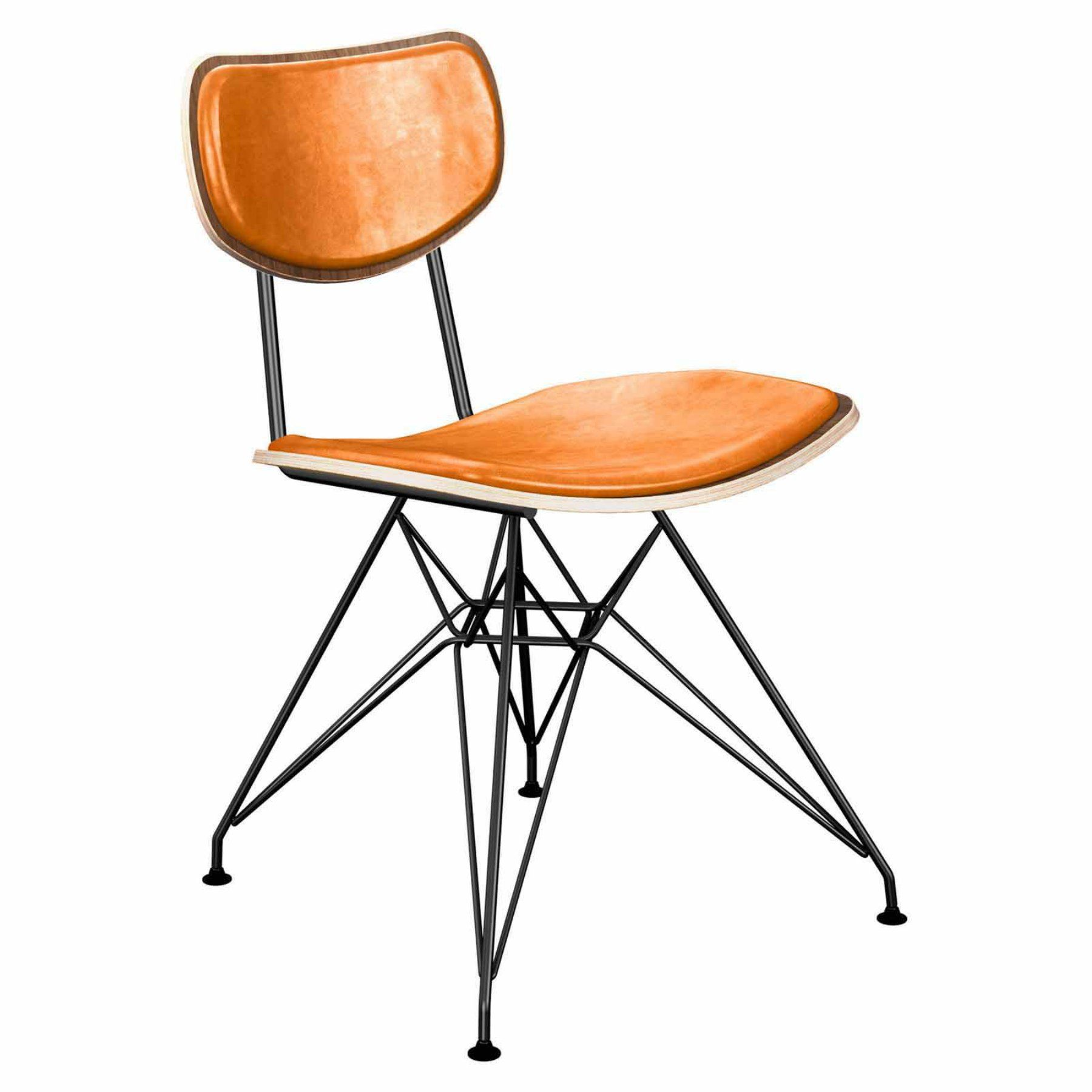 Nyekoncept Harvey Leather Eiffel Dining Chair  16020053