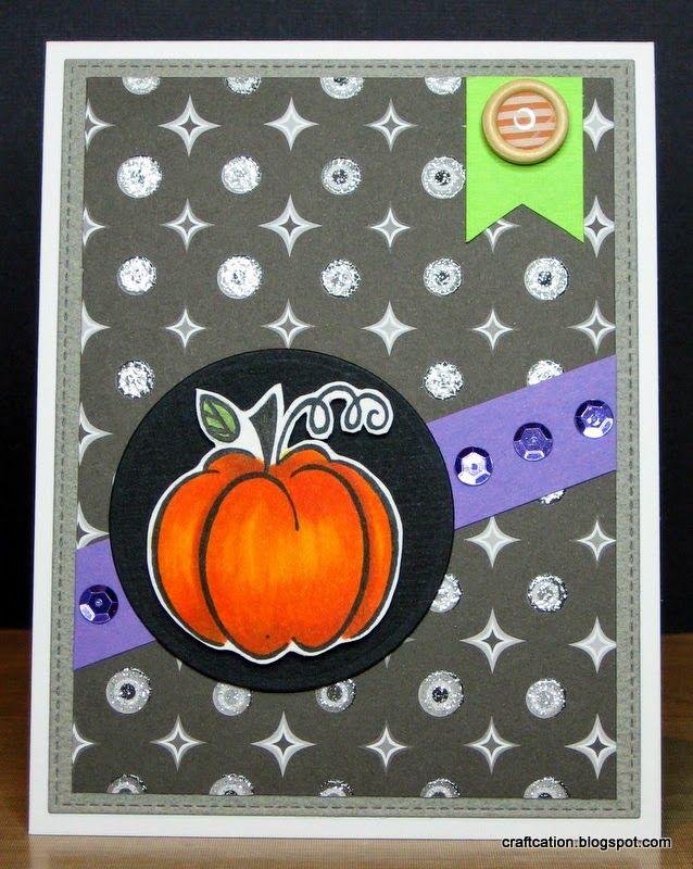 Harvest Pumpkin with Hero Arts Harvest Pumpkin and My Favorite Things Blueprint#13