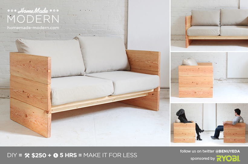 Ep66 Box Sofa Homemade Modern Com Diy Sofa Diy Couch Diy Daybed