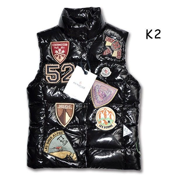 fb634ab2f57e Moncler k2 vest for kids multi logo black  2900285  - £109.19 ...