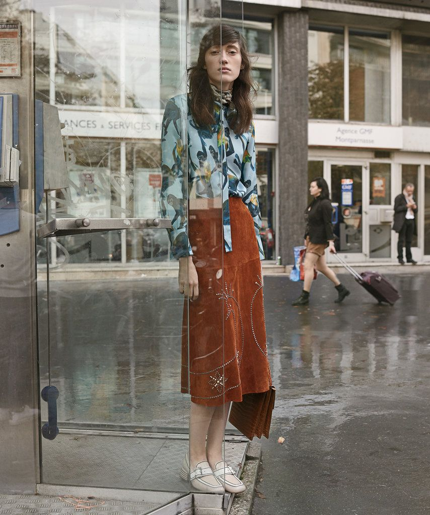 Valentino shirt, $2,490, and skirt, $6,990, (212) 355-5811. Photographs by Scott Trindle. Styled by Jason Rider
