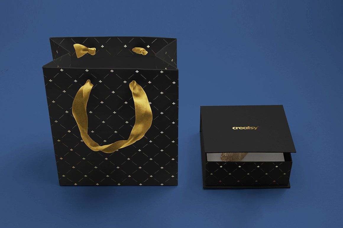Jewelry Box Mockup Set In 2020 Box Mockup Box Template Foil Stamping